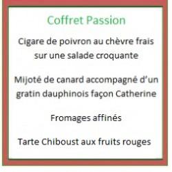 Coffret repas Passion (plat chaud)