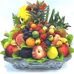Corbeille de fruit au bureau