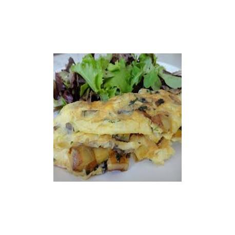 Omelette aux pommes de terre rôties