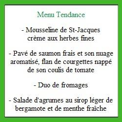 Coffret repas Tendance