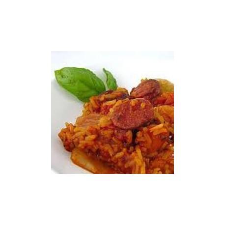 Papillons et émietté de poulet sauce tomate