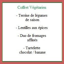 Coffret repas Végétarien