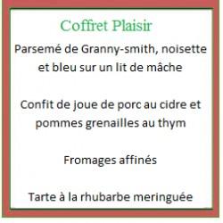 Coffret repas Plaisir (plat chaud)