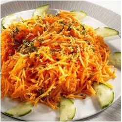 Râpé de carottes aux aromates